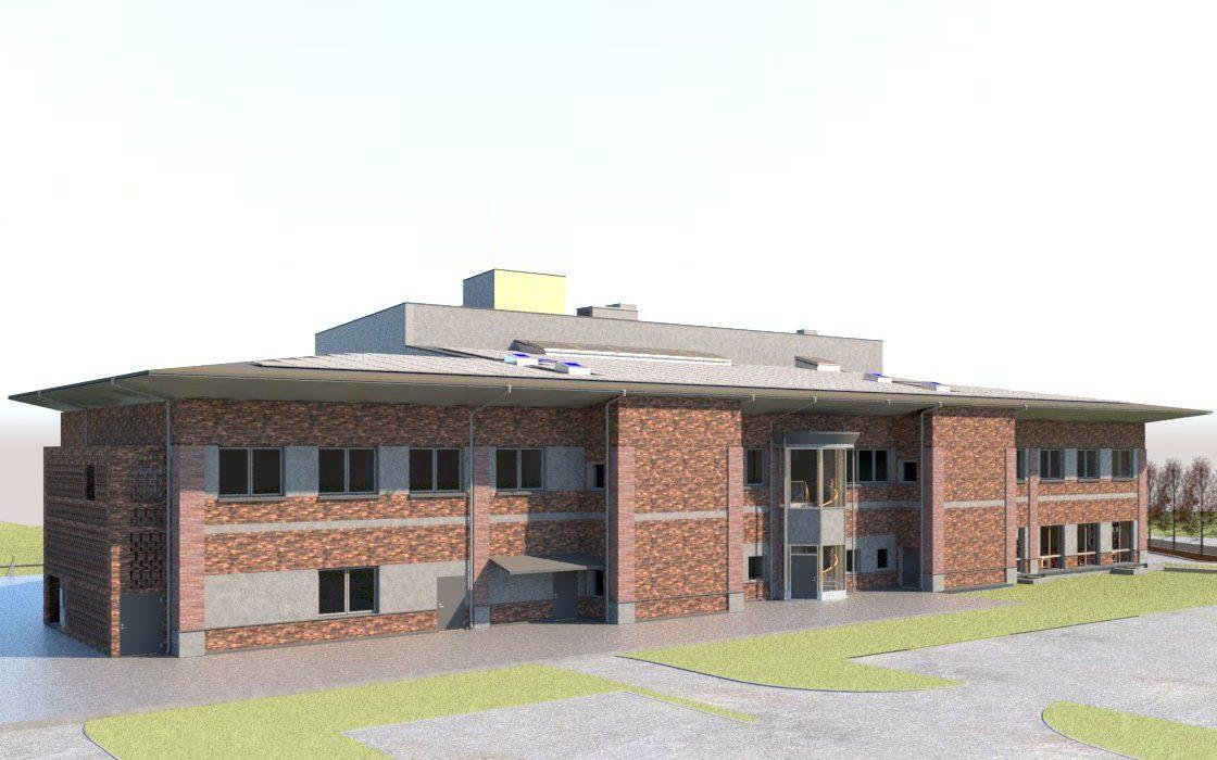 Björkhaga Skola - Fasad, Hus X