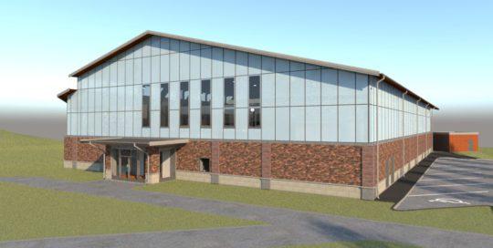 Björkhaga Skola, Sporthall - Hus C